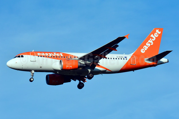 easyJet (UK) Airbus A319-111 G-EZDL (msn 3569) BSL (Paul Bannwarth). Image: 929086.