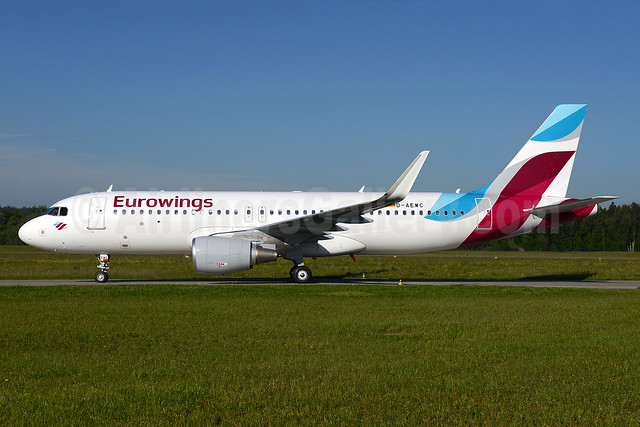 Eurowings Airbus A320-214 WL D-AEWC (msn 7012) ZRH (Rolf Wallner). Image: 933103.