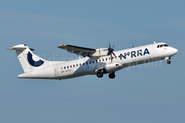 Norra - Nordic Regional Airlines ATR 72-212A (ATR 72-500) OH-ATG (msn 757) HEL (Tony Storck). Image: 943676.