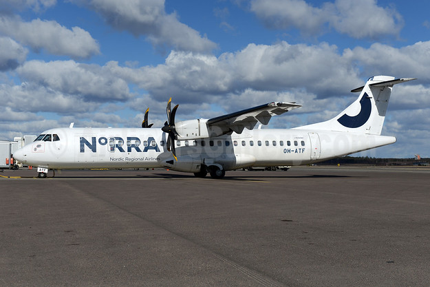 Norra - Nordic Regional Airlines ATR 72-212A (ATR 72-500) OH-ATF (msn 744) HEL (Ton Jochems). Image: 937415.