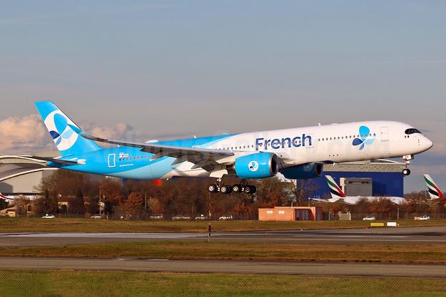 French (Bee) Airbus A350-941 F-WZGX (F-HREV) (msn 193) TLS (Eurospot). Image: 940990.