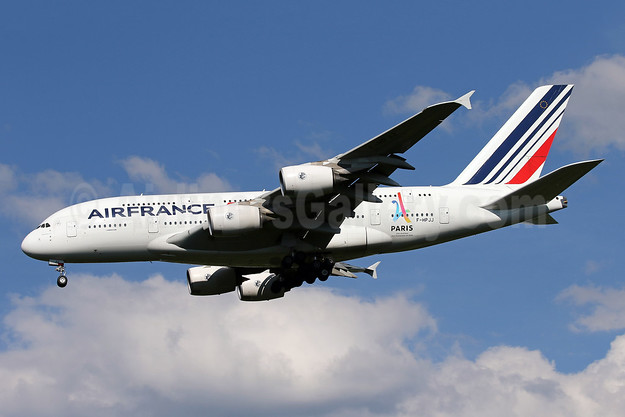 Air France Airbus A380-861 F-HPJJ (msn 117) (Paris-Candidate City 2024 Olympic Games) IAD (Brian McDonough). Image: 943611.