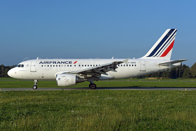 Air France Airbus A319-111 F-GRHS (msn 1444) ZRH (Rolf Wallner). Image: 943717.