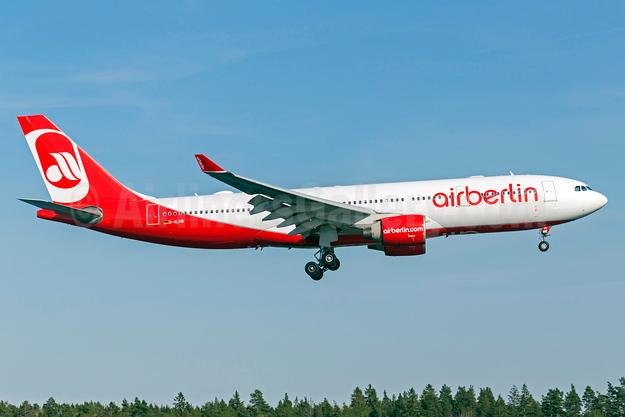 Airberlin (airberlin.com) Airbus A330-223 D-ALPB (msn 432) ARN (Stefan Sjogren). Image: 932873.