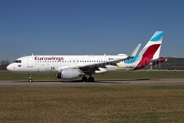 Eurowings Airbus A320-214 WL D-AEWG (msn 7121) (Visit Sweden - Goteborg) ZRH (Andi Hiltl). Image: 955079.