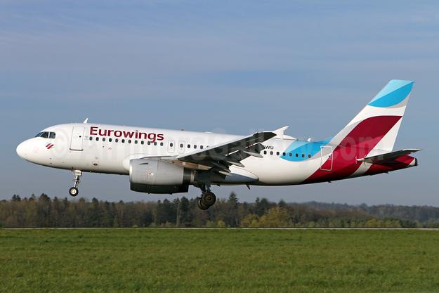 Eurowings Airbus A319-132 D-AGWU (msn 5457) ZRH (Andi Hiltl). Image: 946263.