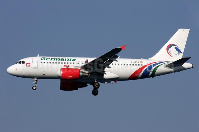 Germania Fluggesellschaft Airbus A319-112 D-ASTA (msn 4663) (Gambia Bird colors) CFU (Antony J. Best). Image: 913266.