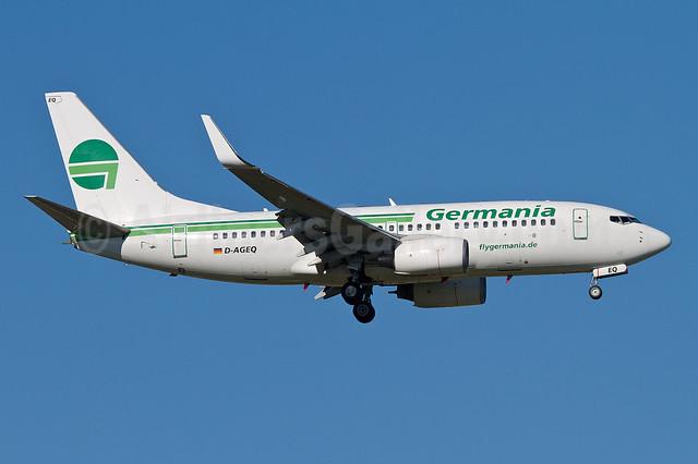 Germania Fluggesellschaft Boeing 737-75B WL D-AGEQ (msn 28103) MUC (Arnd Wolf). Image: 909631.