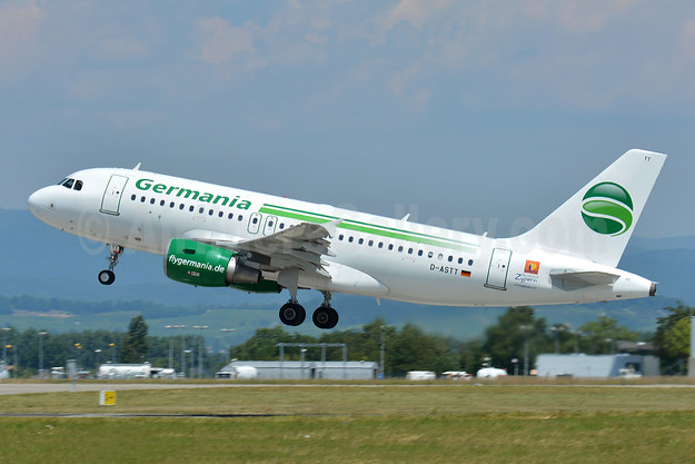 Germania Fluggesellschaft Airbus A319-112 D-ASTT (msn 3560) (Whole Hearted Cyprus logo) BSL (Paul Bannwarth). Image: 945579.