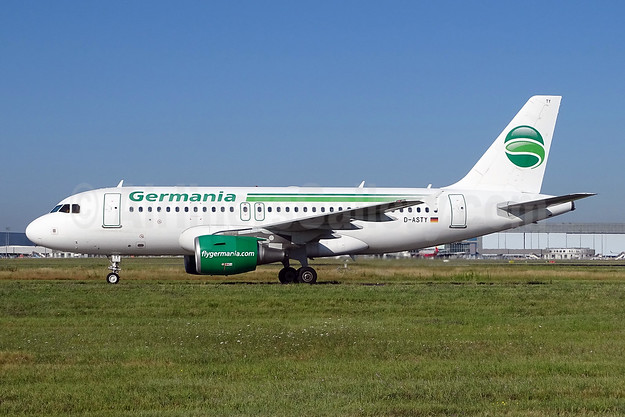 Germania Fluggesellschaft Airbus A319-112 D-ASTY (msn 3407) TLS (Paul Bannwarth). Image: 944580.