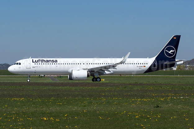 Lufthansa's first Airbus A321neo, delivered May 4, 2019 as D-AIEA