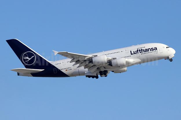 Lufthansa Airbus A380-841 D-AIMB (msn 041) LAX (Michael B. Ing). Image: 946668.