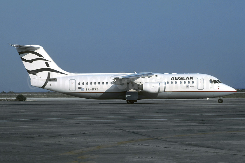 Aegean Airlines (Aegean Aviation) Avro (BAe) RJ100 SX-DVE (msn E3374) ATH (Christian Volpati Collection). Image: 953175.