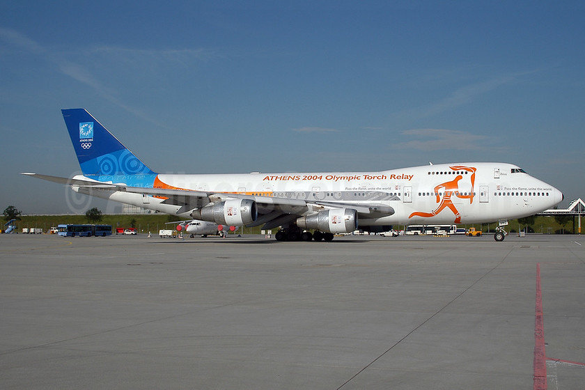 """""""Zeus"""", """"Athens 2004 Olympic Torch Relay"""" aircraft"""