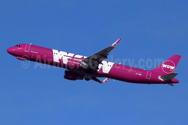 Wow Air Airbus A321-211 WL TF-GMA (msn 7127) LAX (Michael B. Ing). Image: 944976.