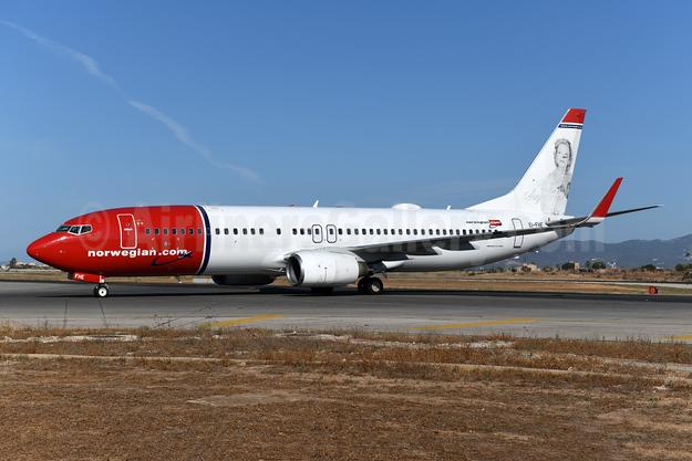 Norwegian.com (Norwegian Air International) (Ireland) Boeing 737-8Q8 WL EI-FHE (msn 35280) (Sonja Henie) PMI (Ton Jochems). Image: 952170.