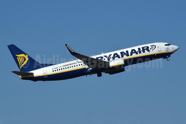 Ryanair Boeing 737-8AS WL EI-EBB (msn 37519) (Comunitat Valenciana) RAK (Robbie Shaw). Image: 922177.