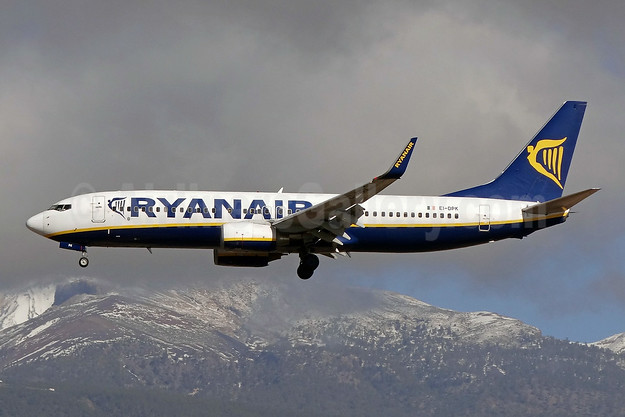 Ryanair Boeing 737-8AS WL EI-DPK (msn 33610) TFS (Paul Bannwarth). Image: 923307.