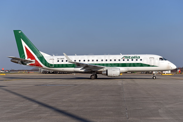 Alitalia CityLiner Embraer ERJ 170-200STD (ERJ 175)  EI-RDF (msn 17000337) BRU (Ton Jochems). Image: 942234.