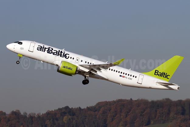 airBaltic Bombardier CS300 YL-CSC (msn 55005) ZRH (Andi Hiltl). Image: 941765.