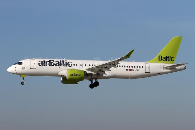 airBaltic Airbus A220-300 (Bombardier CS300 - BD-500-1A11) YL-CSC (msn 55005) ZRH (Andi Hiltl). Image: 943595.