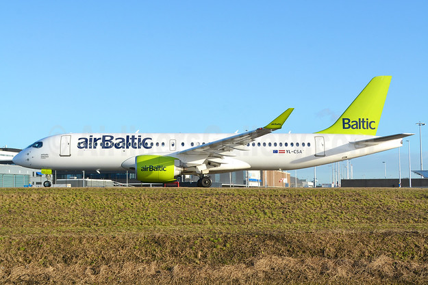 airBaltic Airbus A220-300 (Bombardier CS300 - BD-500-1A11) YL-CSA (msn 55003) AMS (Marco Finelli). Image: 936523.