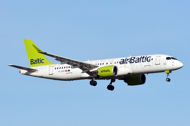 airBaltic Bombardier CS300 YL-CSC (msn 55005) ZRH (Paul Bannwarth). Image: 941766.