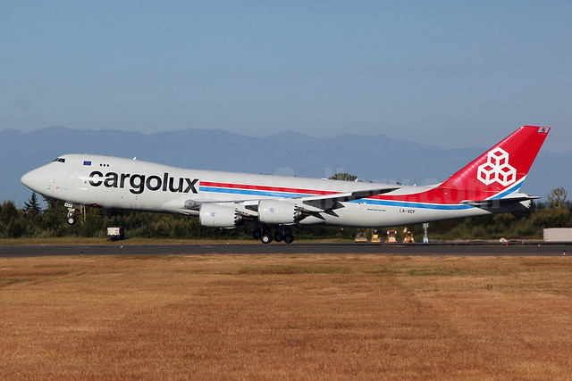 Cargolux Airlines International (Luxembourg) Boeing 747-8R7F LX-VCF (msn 35811) PAE (Nick Dean). Image: 909296.