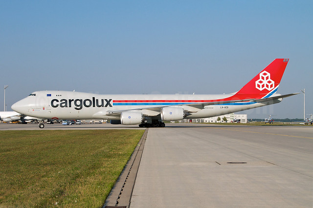 Cargolux Airlines International (Luxembourg) Boeing 747-8R7F LX-VCD (msn 35809) MUC (Arnd Wolf). Image: 908915.