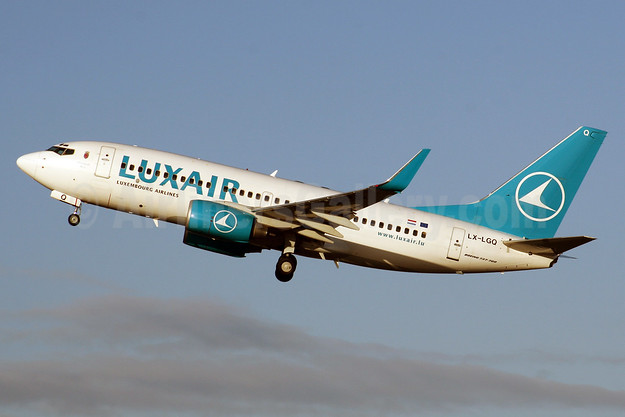 Luxair-Luxembourg Airlines Boeing 737-7C9 WL LX-LGQ (msn 33802) LHR  (SPA). Image: 924485.