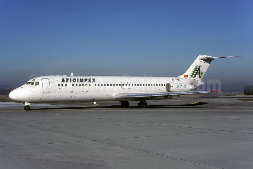 Avioimpex McDonnell Douglas DC-9-33RC Z3-ARA (msn 47530) ZRH (Rolf Wallner). Image: 941086.
