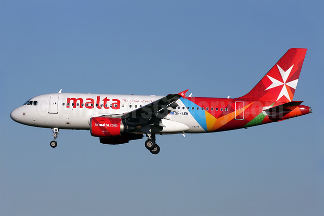 Malta - airmalta.com (Air Malta 2nd) Airbus A319-112 9H-AEM (msn 2382) LHR (Antony J. Best). Image: 909859.