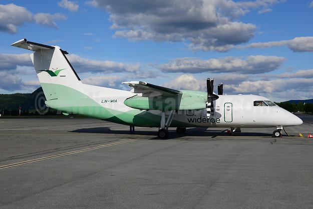 Wideroe (Widerøe's Flyveselskap AS) Bombardier DHC-8-103 LN-WIA (msn 359) TRD (Ton Jochems). Image: 912543.