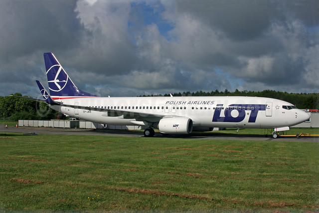 LOT's first Boeing 737-800, delivered on April 26, 2017