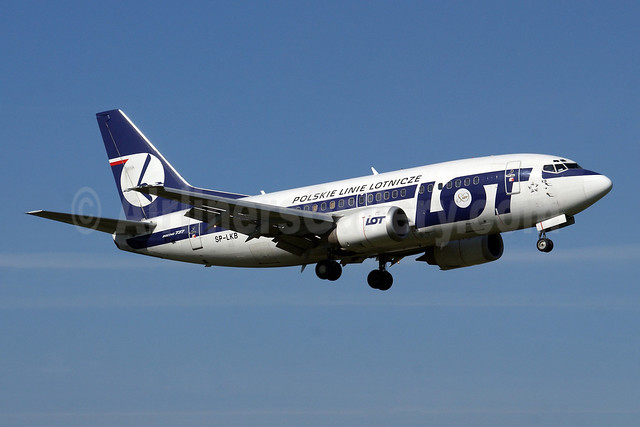 LOT Polish Airlines Boeing 737-55D SP-LKB (msn 27417) WAW (Jacek Fiszer). Image: 908432.