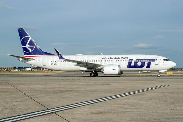 LOT Polish Airlines Boeing 737-8 MAX 8 SP-LVA (msn 64067) LHR (Wingnut). Image: 943499.