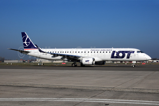 LOT Polish Airlines Embraer ERJ 190-200LR (ERJ 195) SP-LND (msn 19000516) AMS (Ton Jochems). Image: 908073.