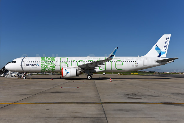 "Azores' first Airbus A321neo, in a special ""Breathe"" livery"