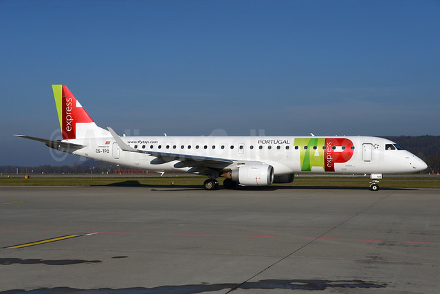 TAP Portugal Express (Portugalia Airlines) Embraer ERJ 190-100LR CS-TPO (msn 19000432) ZRH (Rolf Wallner). Image: 935808.