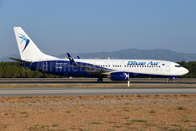 Blue Air Boeing 737-82R WL YR-BML (msn 40697) AYT (Ton Jochems). Image: 947473.