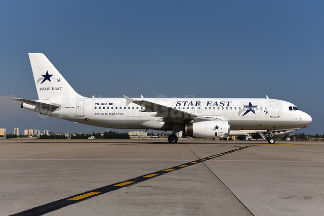 Star East Airlines Airbus A320-231 YR-SEA (msn 357) AYT (Ton Jochems). Image: 941946.
