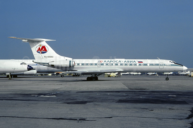 Alrosa Avia (Alrosa Air Company) Tupolev Tu-134B-3 RA-65693 (msn 63221) (Aeroflot colors) VKO (Christian Volpati Collection). Image: 946578.