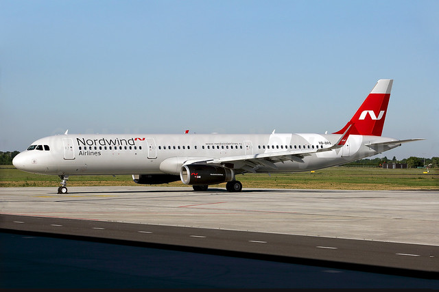 Nordwind's first Airbus A321 in the new 2017 livery