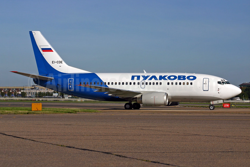 Pulkovo Aviation Enterprise Boeing 737-548 EI-CDE (msn 25115) LHR (SPA). Image: 924635.