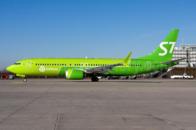 S7 Airlines Boeing 737-8 MAX 8 VQ-BGV (msn 44297) MUC (Gunter Mayer). Image: 954293.