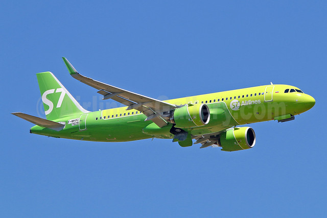 First flight of the first A320neo for S7 Airlines in the new livery