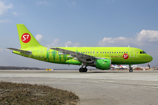 S7 Airlines (Siberia Airlines) Airbus A319-114 VP-BTO (msn 1129) DME (Wim Callaert). Image: 938444.