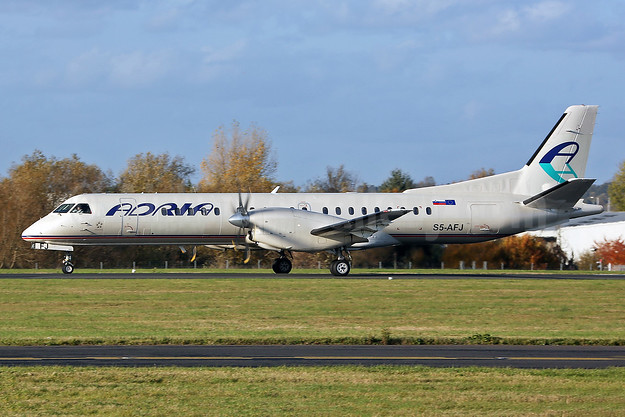 Adria Airways SAAB 2000 S5-AFJ (msn 011) SEN (Keith Burton). Image: 944307.