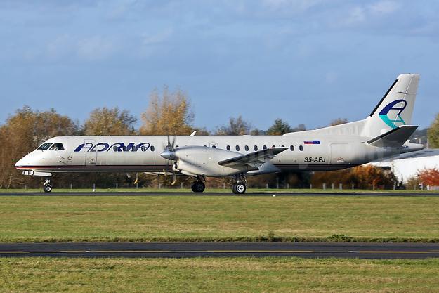 Adria Airways SAAB 2000 S5-AFJ (msn 011) SEN (Keith Burton). Image: 944307.