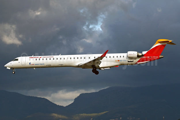 Air Nostrum-Iberia Regional Bombardier CRJ1000 (CL-600-2E25) EC-LOJ (msn 19018) PMI (Javier Rodriguez). Image: 936716.